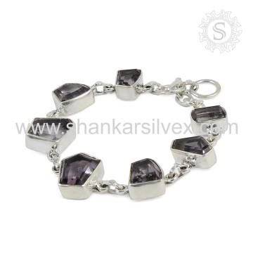 Alibaba Amethyst Bracelet Natural Gemstone Silver Jewelry Manufacturer Online Silver Jewelry