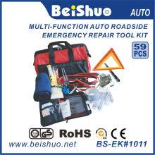 Kit d'outils d'urgence de voiture 59PCS au bord de la route