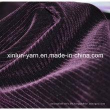 Impermeable cortina de poliéster flocado tejido para sofá / prendas de vestir / textiles para el hogar