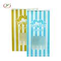 Мешок для попкорна упаковочный бумажный пакет с окном