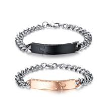 Bracelet religieux gravé personnalisé, bijoux de bracelet de couples assortis