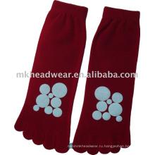 2013 новый шелковый пяточный носок с круглой печатью