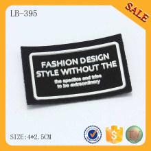 LB395 3D logotipo couro volta vestuário patch de silicone