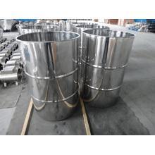 Tambor de aço inoxidável, tambor com tampa de grampo, tambor de aço inoxidável aberto