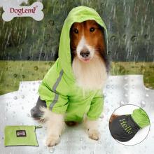 Neuer Entwurf zwei Ton-Haustier-wasserdichten Stoff für große Hunde Hundetuch im Freien Moderner Hunderegenmantel