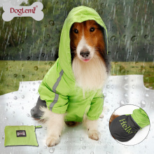 New Design Two Tone Pet Waterproof Cloth For Big Dogs Outdoor Dog Cloth Fashionable Dog Raincoat