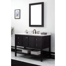 Wooden One Main Cabinet Mirrored Modern Bathroom Cabinet (JN-8819713C)