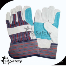 SRSAFETY cheap price made in China/leather hand gloves
