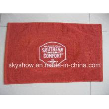 Вышитые одной стороне велюровая бар полотенце