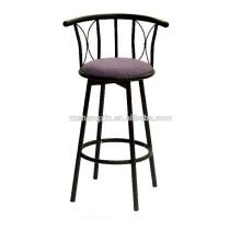 Chaise de barre en dossier en métal, chaise pivotante avec coussin éponge à vendre