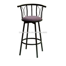 Metal Backrest Bar Chair, Swivel Bar Chair with Sponge Cushion for Sale