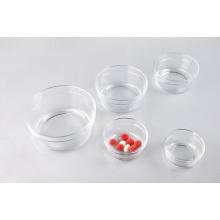 Ensemble de bol à sucre en verre Kitchen Glasswares avec couvercle