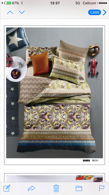 printed cvc bedding set