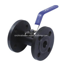 Acero al carbono Válvula de bola de brida 1PC