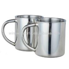 Tasse de café en métal de 10 onces avec la grande poignée