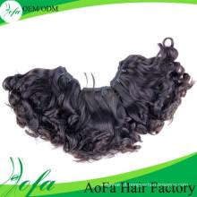 Cabelo humano não processado de Weave de Remy do cabelo do Virgin da onda natural de 100%