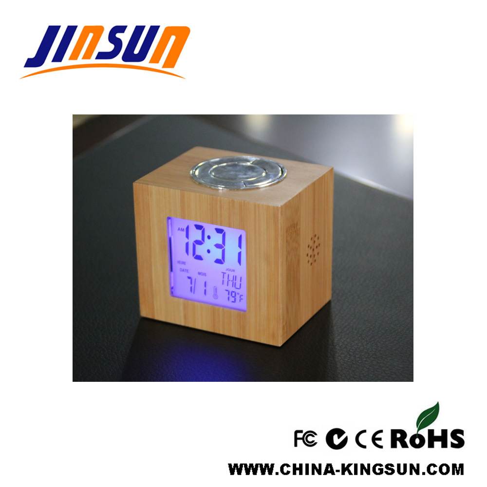 Bamboo Lcd Clock with Blacklight