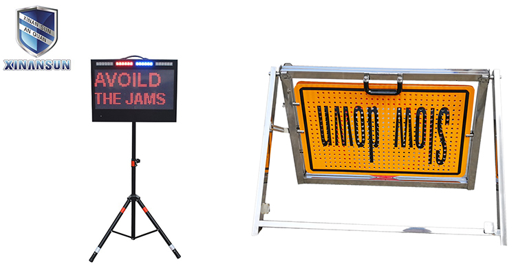 Led car folding warning board