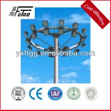 Poste de iluminación de mástil, postes de acero galvanizado