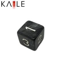 15mm Professional Black with Figure Square Corner Dice