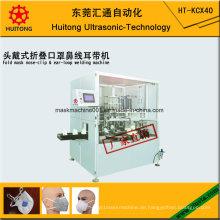 Automatische Ultraschall Falten Maske Nase Clip und Earloop Schweißmaschine (Kopf Typ) Maske Maschine