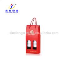 Boîtes d'emballage de papier de boîte d'emballage de carton de bouteille de papier de vin de CMYK ou de Pantone