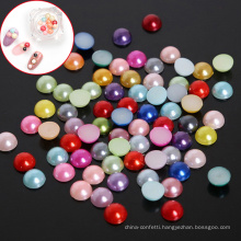 HYYX Holiday Gift Handicraft Different Sizes Round Half handwork Loose beads