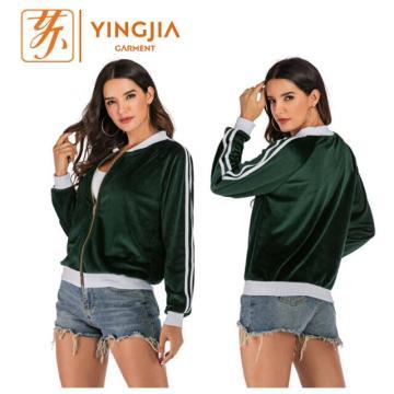 Новая женская сплошная цветная спортивная одежда с длинными рукавами Slim