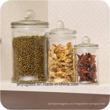 Almacenamiento de tarros de vidrio para embalaje de contenedores de alimentos