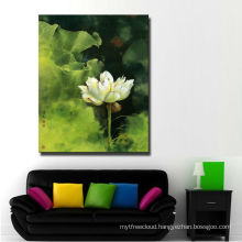Stretched Flower Painting Art Print On Canvas For Living Room Decor