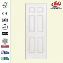 32 pulg. X 80 pulg. Solidoor Liso de 6 paneles sólidos de núcleo con revestimiento compuesto de un solo prehung puerta interior