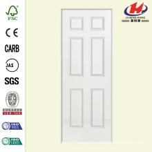 32 дюйма х 80 дюймов. Solidoor Smooth 6-панельный Solid Core Primed Composite Single Prehung Внутренняя дверь