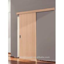 Puerta deslizante de madera roble blanco acabado pared superficie de montaje acústico