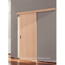 White Oak Finishing Wall Surface Mount Acoustic wooden Sliding Door
