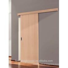 Porta de correr de madeira carvalho branco acabamento parede superfície montar acústico