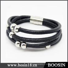 Bracelet en cuir tressé fait main