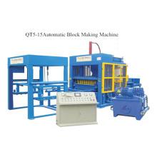 Machine de fabrication de blocs de ciment Machine de fabrication de briques (QT5-15)