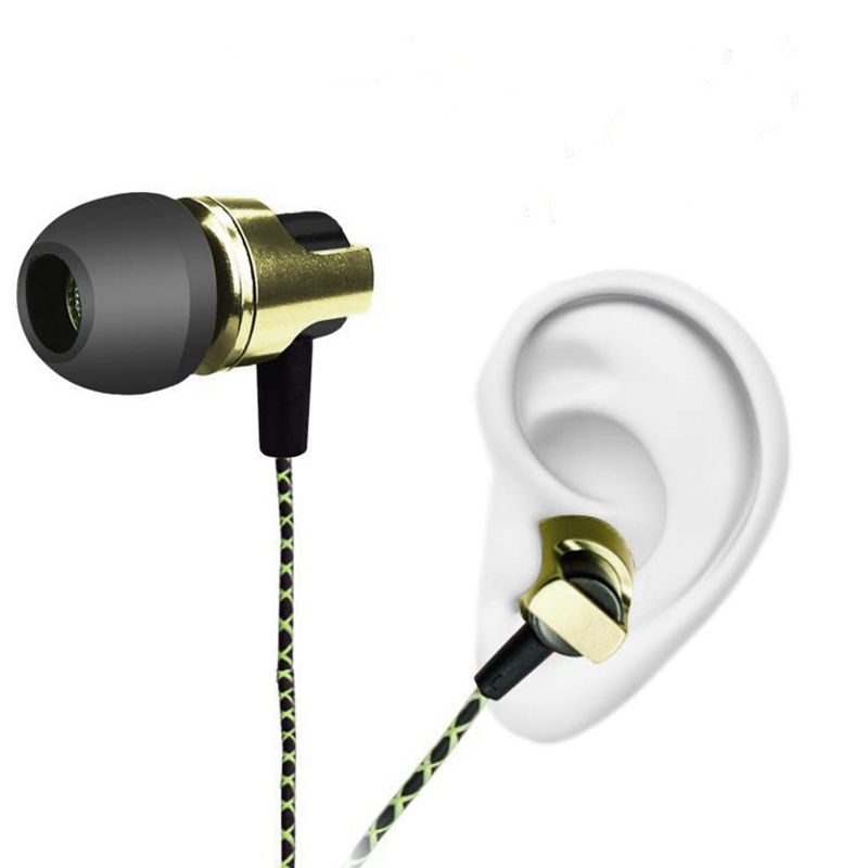in ear earphone metal