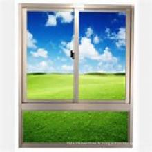 Fenêtre en verre fixe de double vitrage en aluminium / aluminium