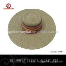 Fashion ladies straw hats paper straw ,lady beach straw hat