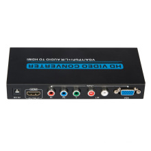VGA / YPbPr +R/L Audio to HDMI Converter