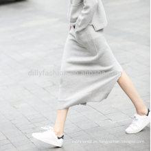 Falda del abrigo del modelo de la cachemira de la moda de 2016 laldies del invierno