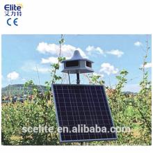 Repelente de aves solar inalámbrico con 8 sonidos y tarjeta chip de sonido reemplazable