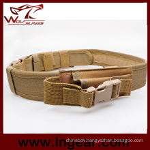 Military Tactical Duty Belt 045 Nylon Belt with Pouch for Wholesale