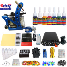 Solong TK105-74 Beginner Tattoo Kit with Tattoo Gun Power Supply Tattoo Kits With Needles