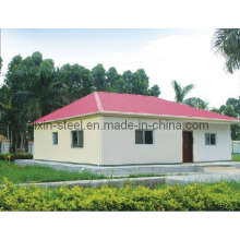 Long Life Time Strong Prefab Steel Structure Villa Building