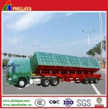 Remorque hydraulique basculante de renversement de côté de camion lourd (PLY9825CXX)