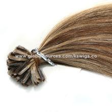 Nail Tip Hair Extension, 100% Natural Human Hair, No Chemical Process, Full Cuticle Aligned
