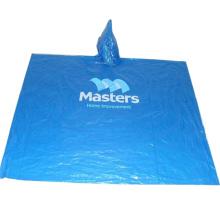 Poncho de chuva descartável promocional com logotipo personalizado