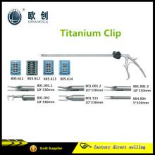 Reutilizável Laparosccopic Titanium Clip Aplicador